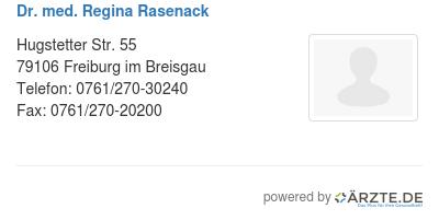 dr med regina rasenack in 79106 freiburg im breisgau fa. Black Bedroom Furniture Sets. Home Design Ideas