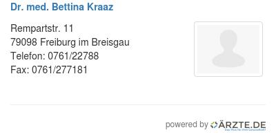 Dr med bettina kraaz