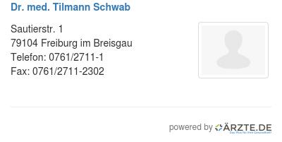 Dr med tilmann schwab