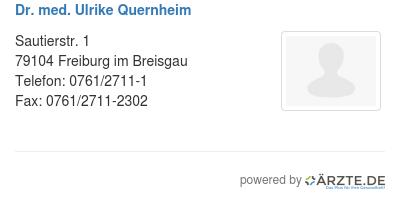 Dr med ulrike quernheim