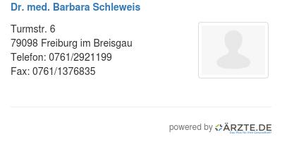 Dr med barbara schleweis