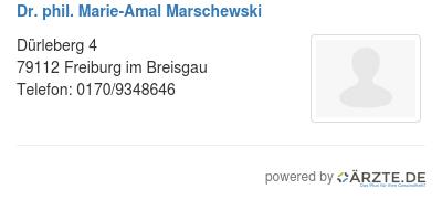 Dr phil marie amal marschewski