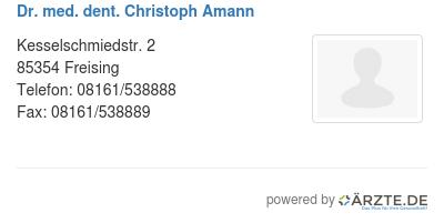 Dr med dent christoph amann 578891