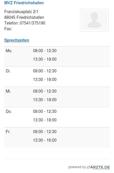 Mvz friedrichshafen