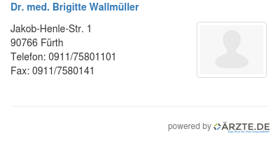 Dr med brigitte wallmueller