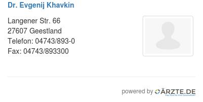 Dr evgenij khavkin 580139