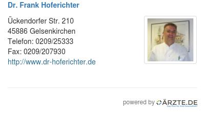 Dr frank hoferichter