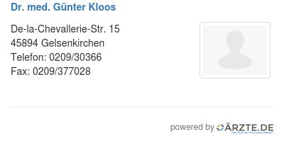 Dr med guenter kloos 514507