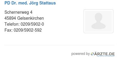 Pd dr med joerg stattaus 580093