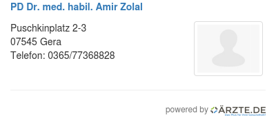 Pd dr med habil amir zolal 579697