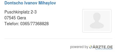 Dontscho ivanov mihaylov