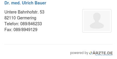 dr bauer germering