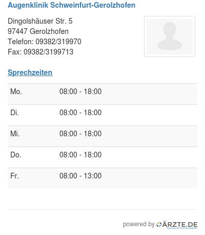 Augenklinik schweinfurt gerolzhofen