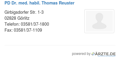 Pd dr med habil thomas reuster