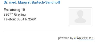 Dr med margret bartsch sandhoff