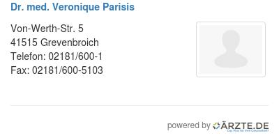 Dr med veronique parisis