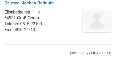 Dr med jochen badouin 580112