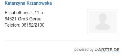 Katarzyna krzanowska 522736