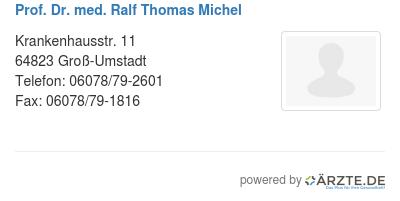 Prof dr med ralf thomas michel
