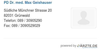 Dr med max geishauser