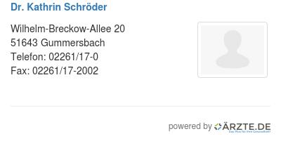 Dr kathrin schroeder 529147