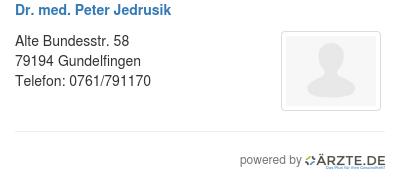 Dr med peter jedrusik 545832