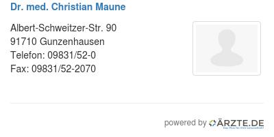 Dr med christian maune 580618