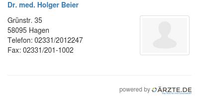 Dr med holger beier 536783