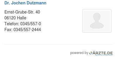 Dr jochen dutzmann
