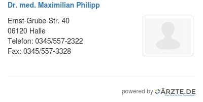 Dr med maximilian philipp