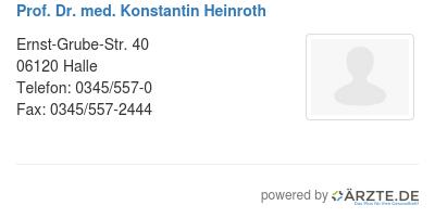 Prof dr med konstantin heinroth