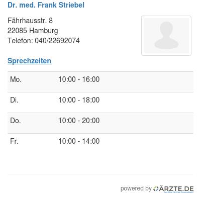 Dr med frank striebel