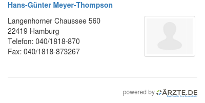 Hans guenter meyer thompson
