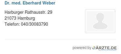 Dr med eberhard weber