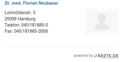 Dr med florian neubauer