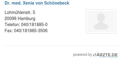Dr med xenia von schoenebeck