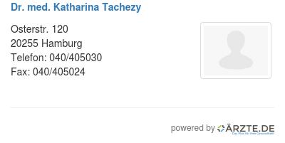 Dr med katharina tachezy