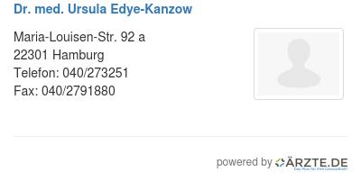 Dr med ursula edye kanzow