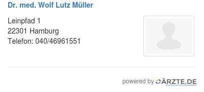 Dr med wolf lutz mueller 529426