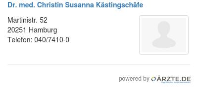Dr med christin susanna kaestingschaefe
