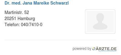 Dr med jana mareike schwarzl