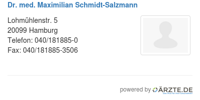 Dr med maximilian schmidt salzmann