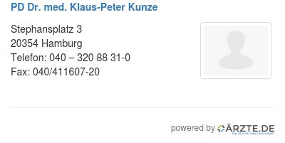 Pd dr med klaus peter kunze