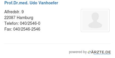 Prof dr med udo vanhoefer