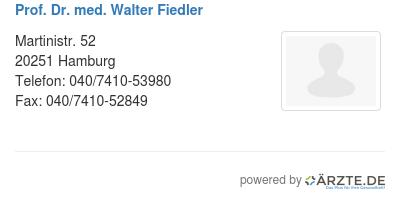 Prof dr med walter fiedler