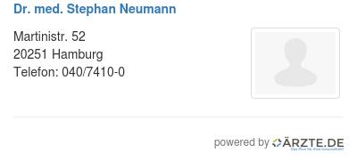 Dr med stephan neumann
