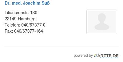Dr med joachim suss 580096