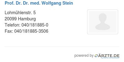 Prof dr dr med wolfgang stein