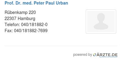 Prof dr med peter paul urban