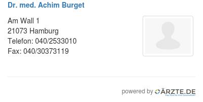 Dr med achim burget 536742